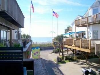 View from Deck, Four Bedroom Beach House in Myrtle Beach, SC
